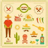 picture of mexican fiesta  - vector illustration design of Mexican isolated icons - JPG