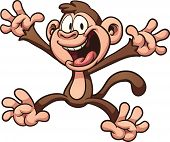 pic of monkeys  - Happy cartoon monkey - JPG