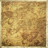 picture of scribes  - Grunge abstract background with handwrite text for design - JPG