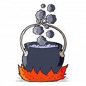 picture of witches cauldron  - cartoon witch - JPG
