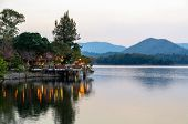image of chan  - Waterfront restaurants at the evening in Kaeng Kra Chan National Park Phetchaburi Province Thailand - JPG