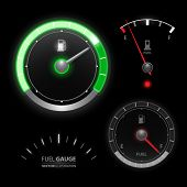 picture of speedo  - Fuel gauge speedometer vector collection set - JPG