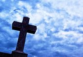 image of humble  - detail of cross on the blue sky