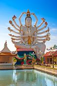 stock photo of shiva  - Statue of Shiva on Koh Samui - JPG