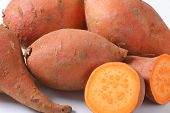 pic of batata  - detail of batata sweet potatoes - JPG