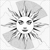 Постер, плакат: Черное и Белое солнце