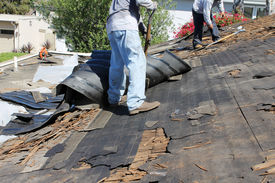 picture of scrape  - Home Roof Construction Site - JPG