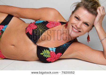 Middle Aged Bikini Woman