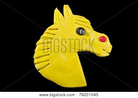 The Horse Head Created From Plasticine
