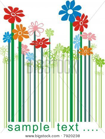 Bar code Floral