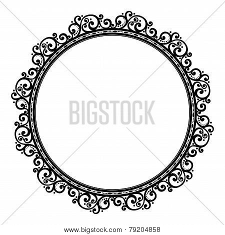 Beautiful Ornate Decorative Holiday Frame (Vector)