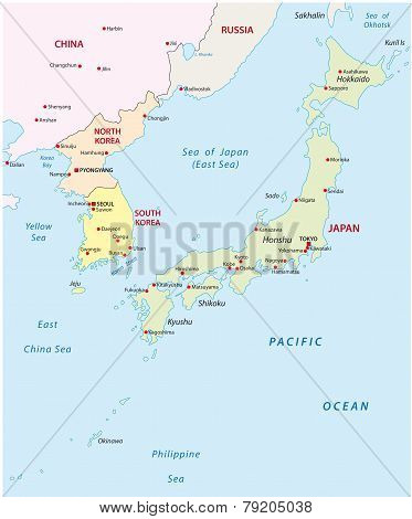 Japan-korea Map