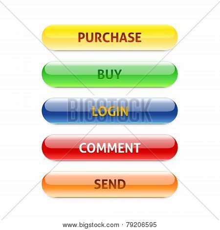 Set Of Retro Buttons. Purchase. Buy. Login. Comment. Send.