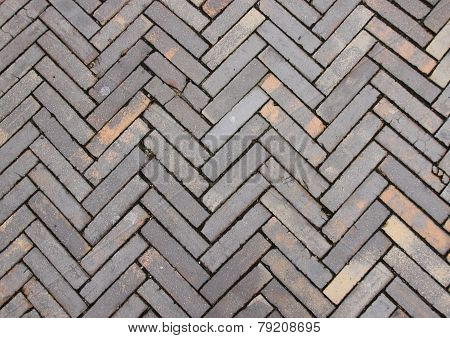 Striped Outdoor Clay Tile Surface Design And Texture