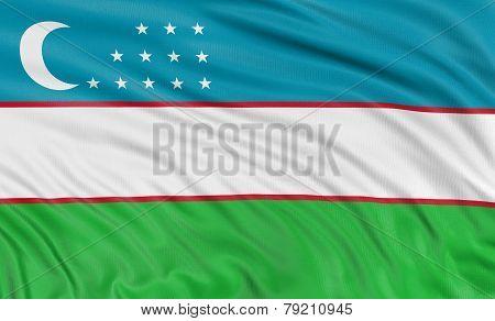 3D Uzbek flag