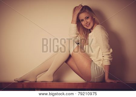 Beautyful Teenage Woman Resting