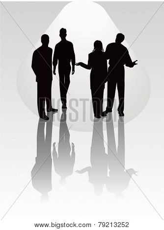 Business Team -  Stock Vector Illustration