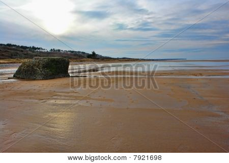 Omaha Beach In Normandy France