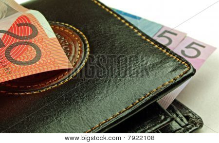 Black Wallet and bank notes