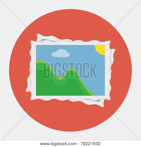 Vector photo gallery icon