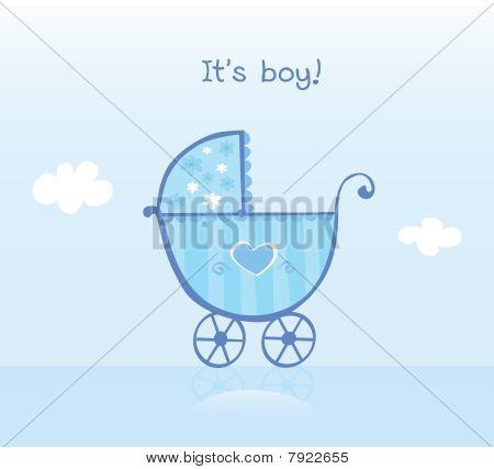 Blue Pram For Boy