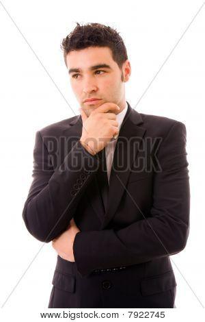 Homem de negócios pensativo