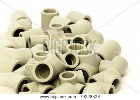 A lot of combined fittings
