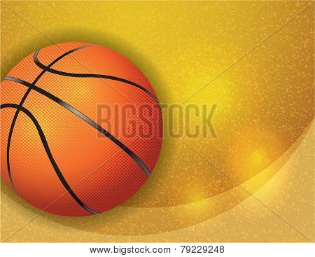 Basketball On Background Illustration