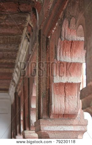 Agra Fort arches architectural detail