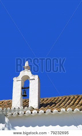 Church roof in Alte, Portugal