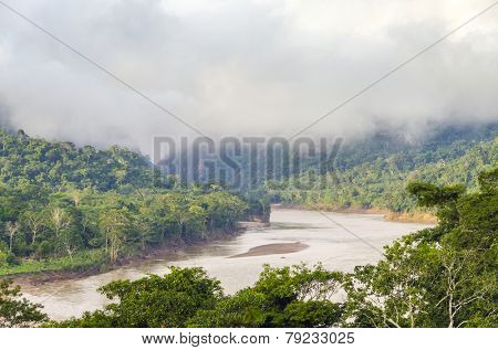 Beni river in Bolivian jungle (Rurrenabaque region) at dawn