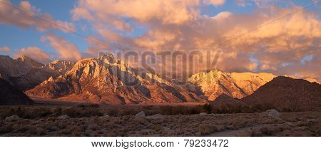 Golden Alpine Sunrise Alabama Hills Sierra Nevada Range California