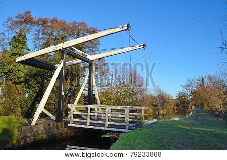 Wrenbury church lift bridge