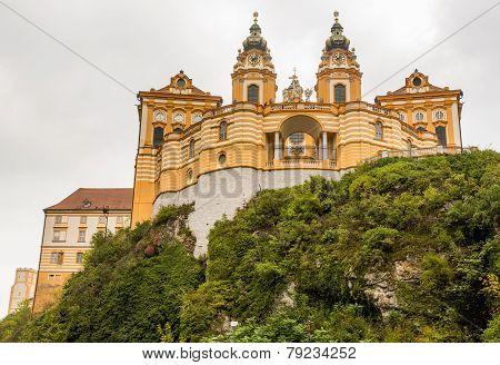Exterior Of Melk Abbey In Austria