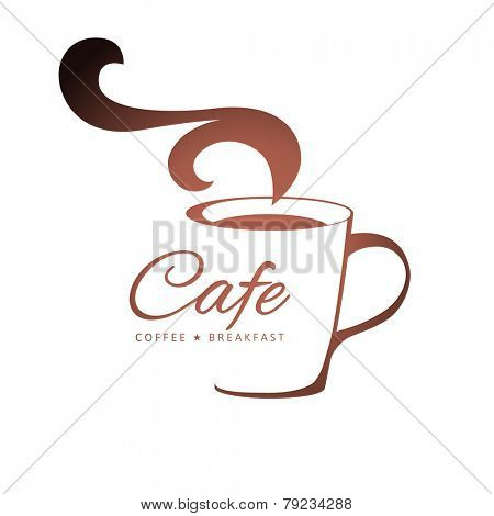 coffee logo template with stylized cup