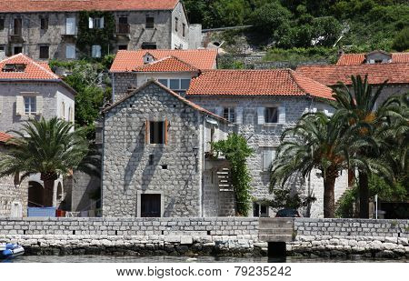 PERAST, MONTENEGRO - JUNE, 08: Mediterranean house, on June 08, 2012 in Perast, Montenegro