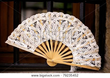 Spanish Folding Fan in Cantabria, Spain