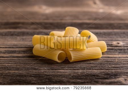 Pile Of Raw Rigatoni