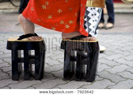 Kimono and zori in Japan