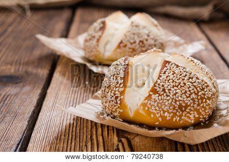 Pretzel Rolls (with Sesame)