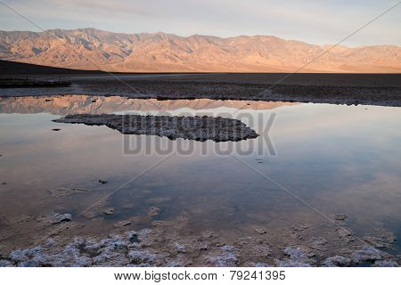Badwater Basin Panamint Range Sunrise Death Valley National Park