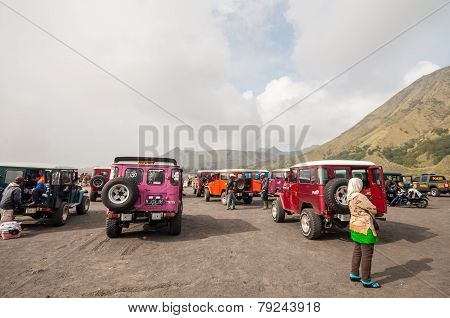 Tourists  cars