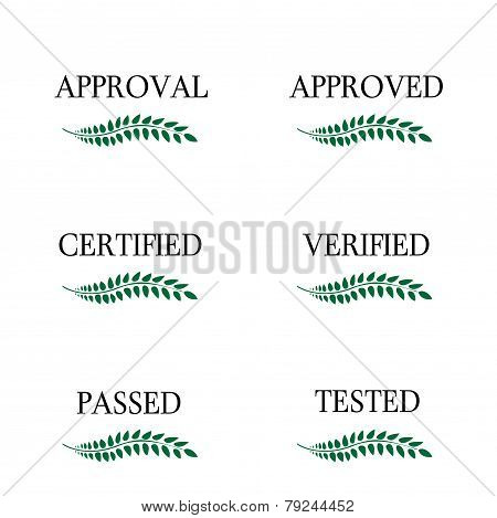 Approval Seals Laurel
