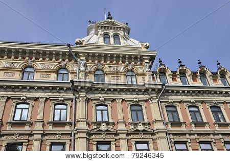 Historic Building view in Helsinki of Finland