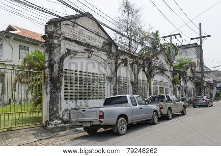Phuket City, TH-Sept,18 2014: The streets of the old town in Phuket Town, Thailand