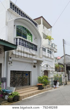 Phuket City, TH-Sept,18 2014: The streets of the old town - Soi Soon Utis in Phuket Town