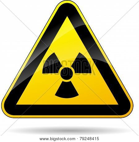 Radioactivity Yellow Sign