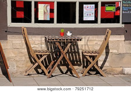 Cafe table, Tewkesbury.