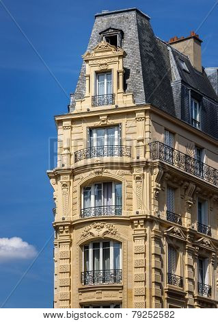 Typical Haussmannian building, Paris, France