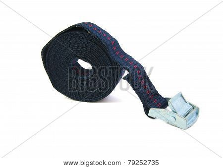 Tie Down or Cinch or Ratchet Strap on a white background